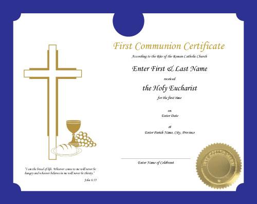 Roman Catholic Baptism Certificate Template