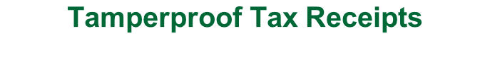 Tamperproof Tax Receipts